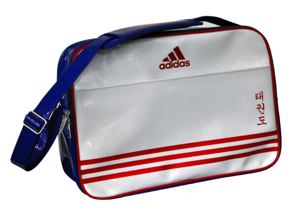 Adidas Retro Sporttas Wit/Blauw Taekwondo