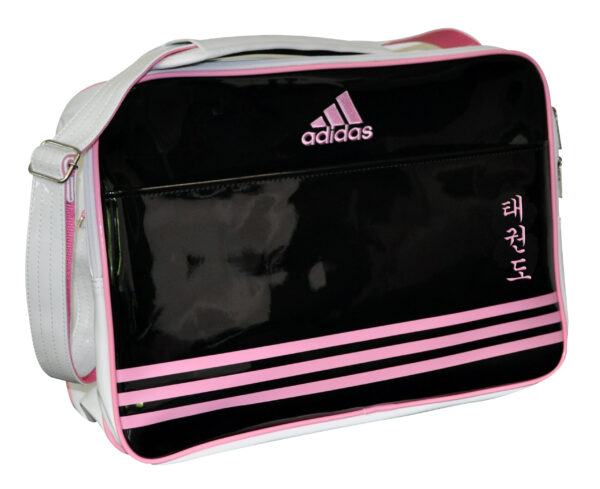 Adidas Retro Sporttas Zwart/Roze Taekwondo