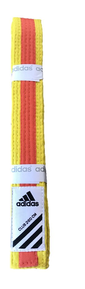 Adidas Belt Club bicolor Yellow/Orange size 280
