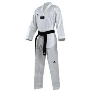 Adidas Taekwondopak Club Witte Revers