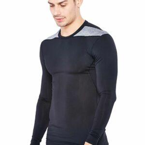 Adidas Techfit Lange MouwZwart/grijs in de maat XS
