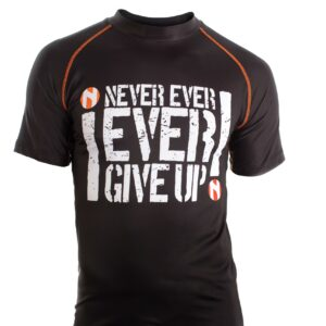 "Nihon Rashguard ""Never Give Up"""