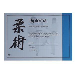 Diploma Jiu-Jitsu Blauwe Band