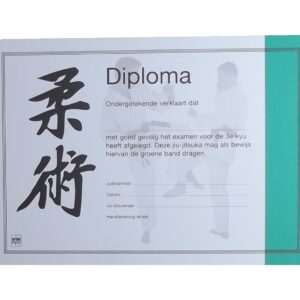 Diploma Jiu-Jitsu Groene Band