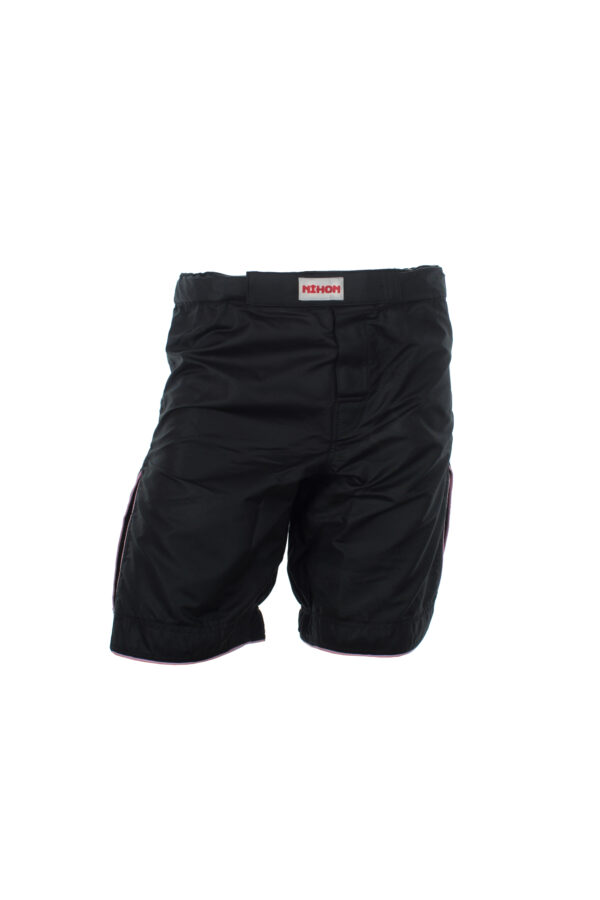 Nihon Kickboks shorts Zwart met Roze rand