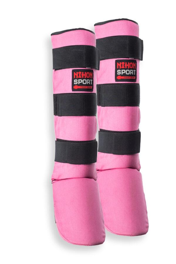 Scheen/wreefbeschermers voor vechtsporten Nihon | roze