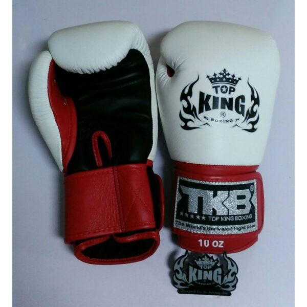 "Top King Boxing Gloves ''Ultimate"" White Black Red (OP=OP)"