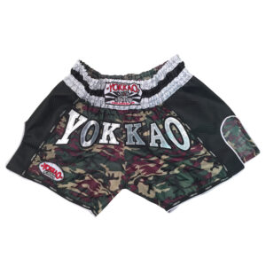 Yokkao Carbon Muay Thai Shorts Green Army