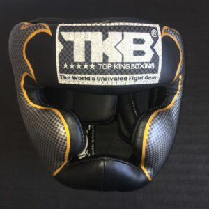 Top King MuayThai Head Guard Black Gold M (OP=OP)