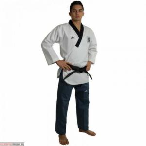 Adidas Taekwondopak Poomsae Wit/Donkerblauw maat 180